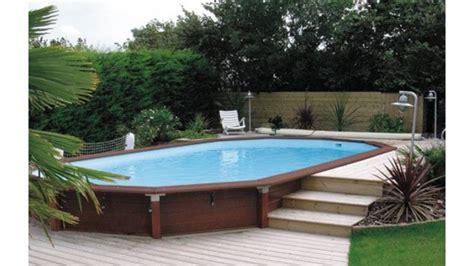 piscine bois semi enterr 233 e 8x4