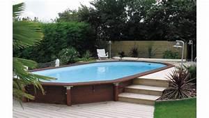 Piscine Bois Semi Enterrée : piscine bois semi enterr e 8x4 ~ Melissatoandfro.com Idées de Décoration