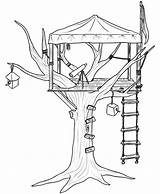Coloring Tree Pages Treehouse Colouring Houses Printable Drawing Sheets Bestcoloringpagesforkids Getcolorings Getcoloringpages sketch template