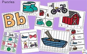 letter b preschool printable pack fun with mama With 3 letter word building puzzles