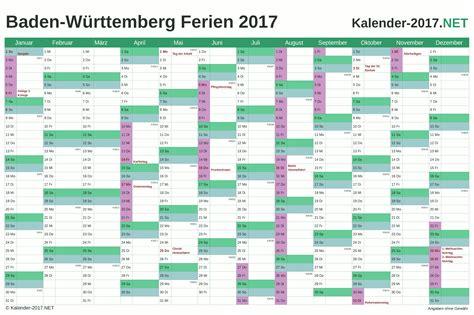 ferien baden wuerttemberg ferienkalender uebersicht