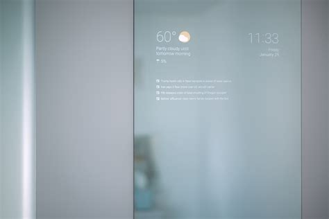 medicine cabinet with engineer creates the smart bathroom mirror