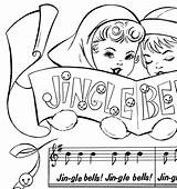 Jingle Bells Printable Coloring Christmas Music Sheet Fairy Template Graphicsfairy Graphics These Colorful Thegraphicsfairy sketch template