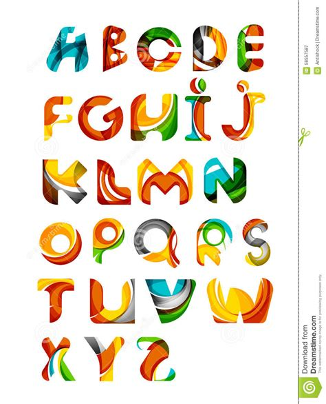 collection of alphabet letters logos design stock vector image 58557587