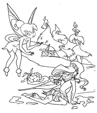 dibujo de hada en el lodo  colorear dibujos