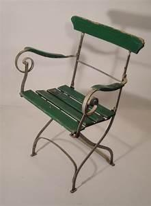 Chaise Moderne Avec Table Ancienne : mobilier de jardin ancien vendu ~ Teatrodelosmanantiales.com Idées de Décoration