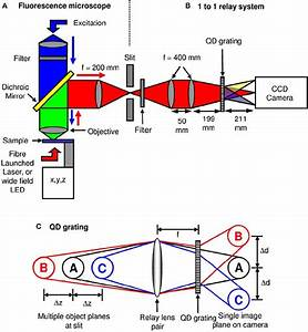 Schematic Diagram Of The Optical Microscope And Grating Operation