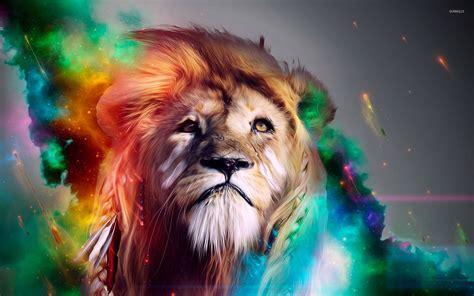 [40+] Colorful Lion Wallpaper on WallpaperSafari