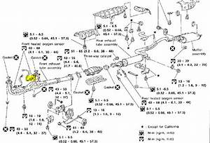 Where Is The Knock Sensor For A 1998 Nissan Maxima Located