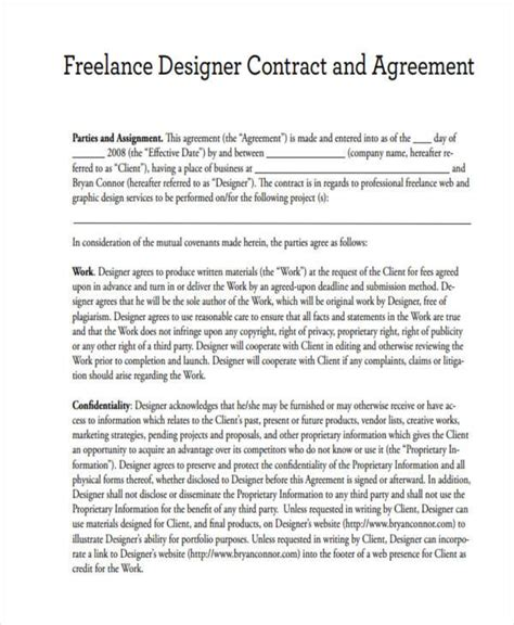 web design contract freelance graphic design contract template pdf template