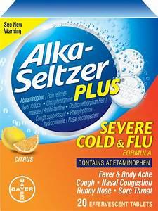 Alka Seltzer Plus Cold & Flu Formula, Severe, Effervescent ...