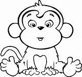 Coloring Pages Monkeys Hard Easy Activity sketch template
