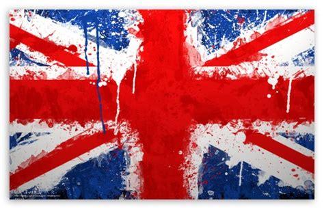 England Flag Paint 4k Hd Desktop Wallpaper For • Wide