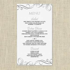 wedding menu card template download instantly by With wedding menu cards templates for free