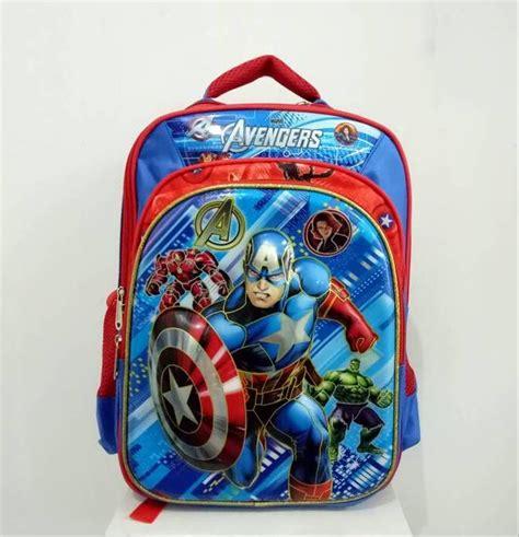 jual tas sekolah anak sd ransel captain america