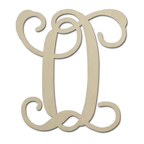 unfinished solid wood single vine monogram letter    north carolina vine