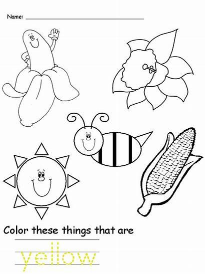 Worksheet Yellow Colors Preschool Worksheets Kindergarten Crafts