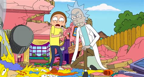 simpsons couch gag rick  morty invade