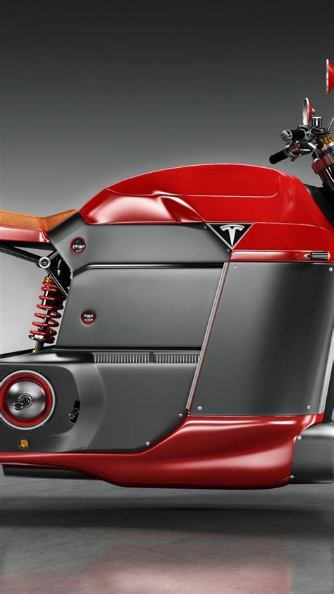 tesla concept motorcycle wallpaper tesla model m electric motorcycle red