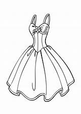 Coloring Dresses Printable Olds sketch template