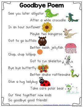 goodbye poem kindergarten kindergarten poems 726 | 686fd0367451e6c2699f4fef706dd63f