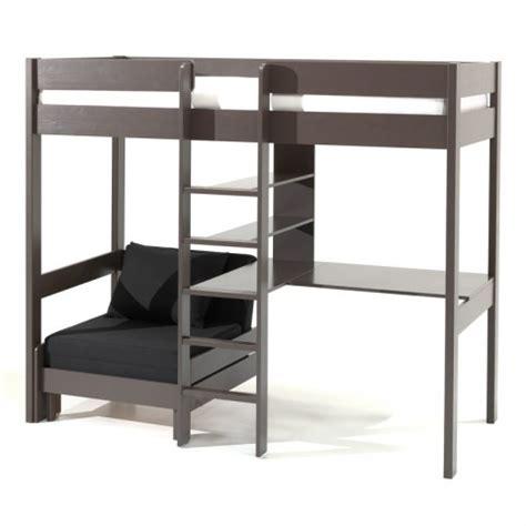 lit mezzanine avec bureau conforama lit mezzanine avec fauteuil quot pino quot taupe