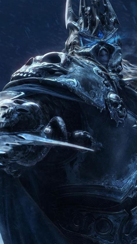 world  warcraft lich king arthas frostmourne wallpaper