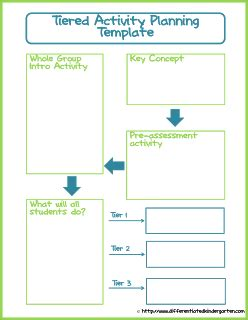 Tiered Planning Template by My Favorite Differentiating Resources