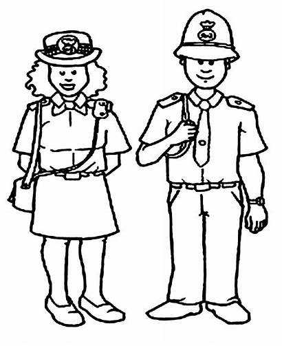 Police Coloring Pages Station Uniform Printable Getcolorings