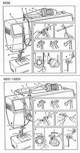 Singer 4538 6021 6221 7021 Sewing Machine Threading Diagram