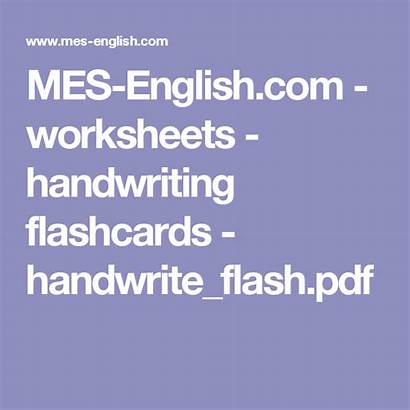 Worksheets Handwriting Flashcards Mes English Pdf Handwrite