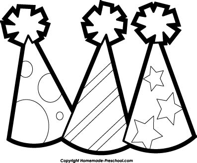 birthday hat clipart black and white clipart black and white pencil and in color