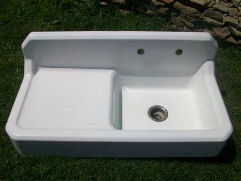 vintage sinks for sale vintage single basin left side drainboard porcelain over