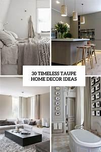 home design ideas 30 Timeless Taupe Home Décor Ideas - DigsDigs