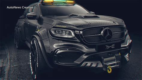 """And now they presented a. Mercedes X-Class 6X6 Custom """"EXY MONSTER X"""" By Pickup Design (Carlex) - YouTube"""
