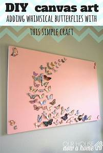 Girl bedroom wall art a butterfly and canvas craft our