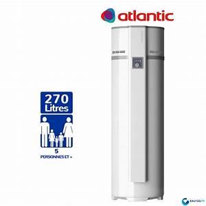 Chauffe Eau Thermodynamique Prix : chauffe eau thermodynamique 270l atlantic eg o air ambiant ~ Melissatoandfro.com Idées de Décoration