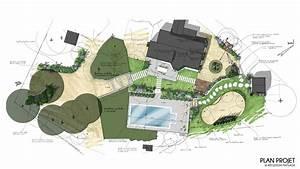 superior plan amenagement jardin rectangulaire 6 With plan amenagement jardin rectangulaire