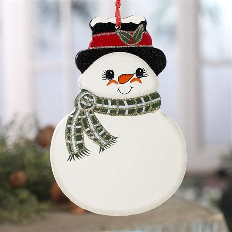 snowman with scarf wood ornament signs ornaments