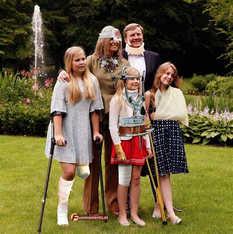koninklijk huis familie ophef om bewerkte foto van de koninklijke familie libelle