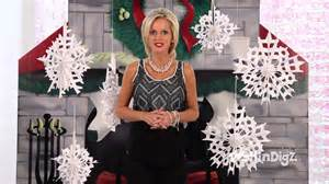 large hanging snowflakes shindigz christmas decorations party supplies youtube