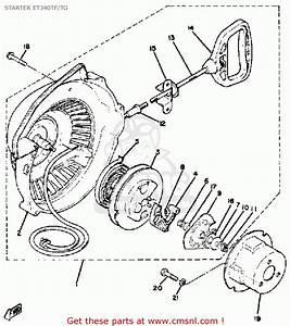 Yamaha Et340 Tf Enticer 1982  1983 Starter Et340tf  Tg