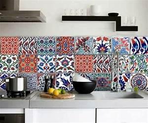 Stickers Carreaux Cuisine : carreaux muraux cuisine top film autocollant mural vinyle ~ Preciouscoupons.com Idées de Décoration