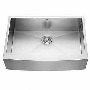shop vigo 330 in x 2225 in single basin stainless steel With 25 inch apron front sink