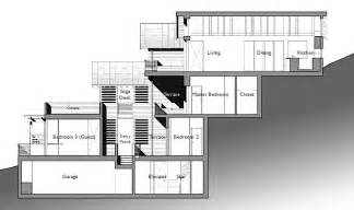 hillside house plans amazing leed home with a vertical design