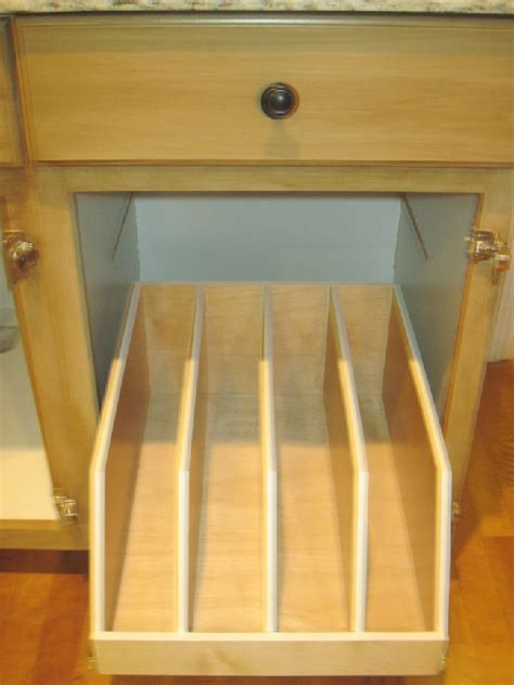 tray dividers for kitchen cabinets cabinetry pull outs craig w enterprises inc 8587