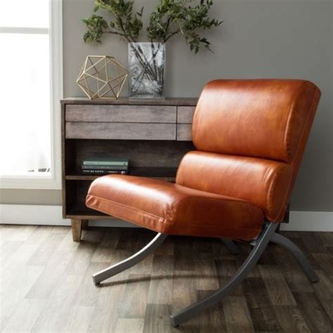 modern faux leather office chair orange rustic waiting