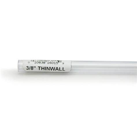 Rigid Plastic Tubing 38 Inch Outer Diameter 3 Foot