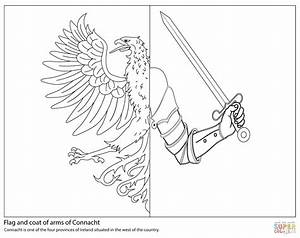 Flag Of Connacht Coloring Page Free Printable Coloring Pages