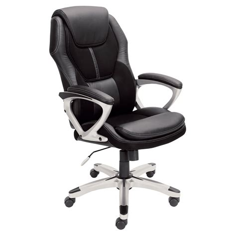 serta puresoft faux leather with mesh executive office chair black office chairs at hayneedle